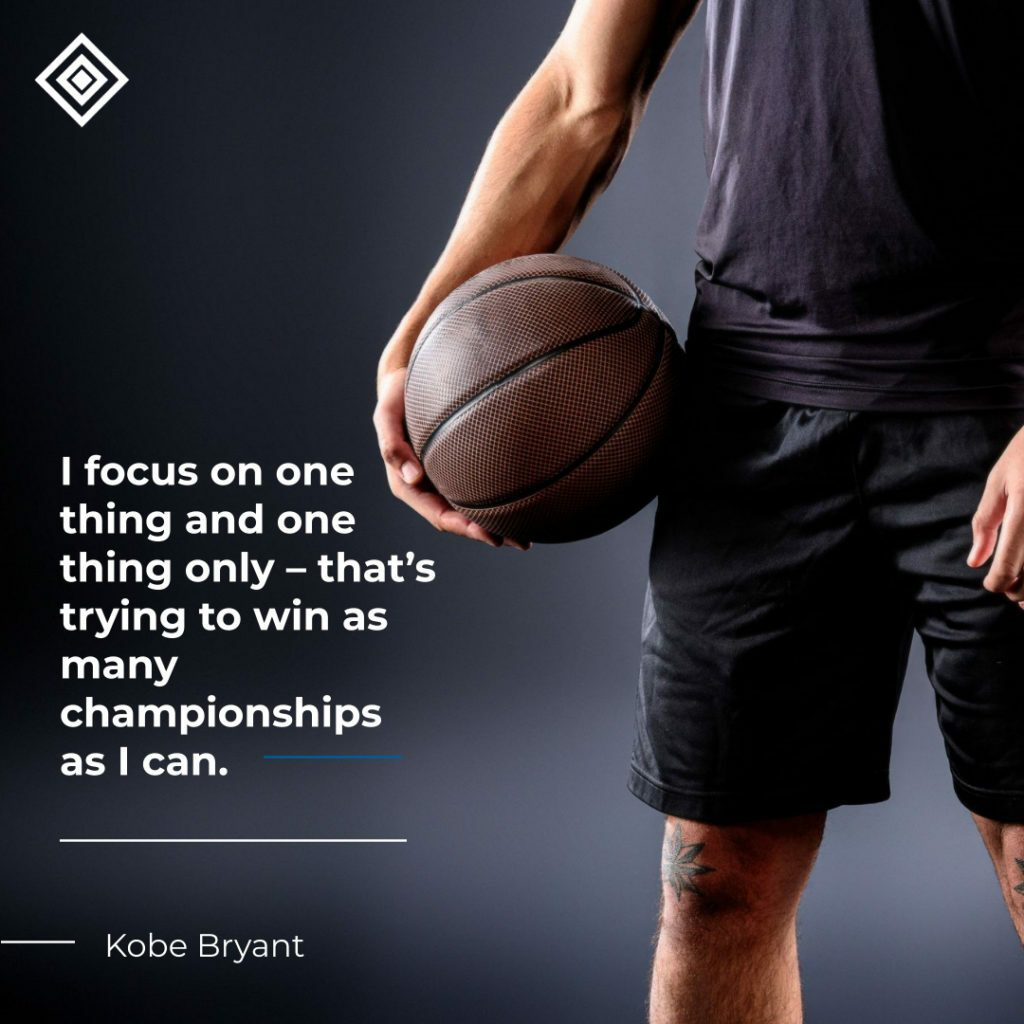 I focus on one thing and one thing only – that's trying to win as many championships as I can.